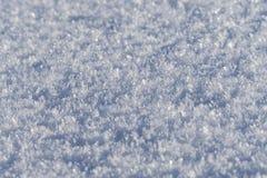 Сияющие кристаллы снега Стоковая Фотография