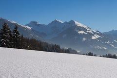 Сияющие кристаллы снега стоковые изображения