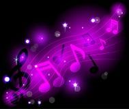 Сияющие музыкальные примечания Стоковые Фото