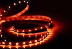 Сияющие света приведенные диода прокладка Стоковое фото RF