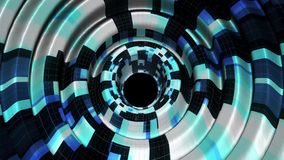 Сияющие цифровые волны пульсируют в стиля techno предпосылки анимации графиков движения виртуального пространства славное нового  акции видеоматериалы