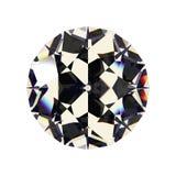 Сияющий белый диамант Стоковая Фотография RF
