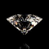 Сияющий белый диамант Стоковые Изображения