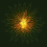 Сияющий горячий космический взрыв звезды - стилизованного объекта иллюстрация штока