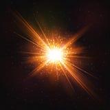 Сияющий горячий космический взрыв звезды бесплатная иллюстрация