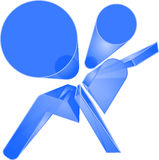 Сияющий голубой символ воздушной подушки Стоковые Фотографии RF