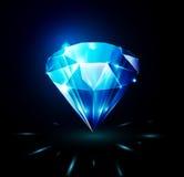 Сияющий диамант на темной предпосылке Стоковые Фотографии RF