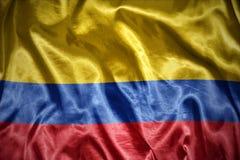 сияющий колумбийский флаг Стоковое Изображение RF