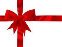 Сияющий красный комплект смычка сатинировки 10 eps Стоковое Фото