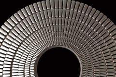 Сияющий металл звенит абстрактная предпосылка иллюстрация штока