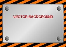 Сияющий металлический лист Иллюстрация вектора