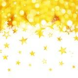 Сияющий дождь золотых звезд Стоковое Изображение RF