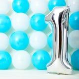 Сияющий первый день рождения Стоковые Фотографии RF