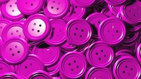 Сияющий пластичный пинк одевает кнопки Стоковые Изображения RF