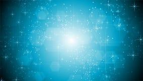 Сияющий свет - голубая сверкная видео- анимация