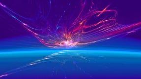 Сияющий фантастический горизонт к другому миру Стоковая Фотография RF
