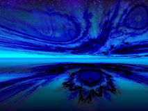 Сияющий фантастический горизонт Стоковое фото RF