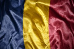 сияющий флаг Чада Стоковые Фото
