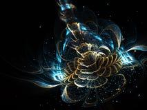 Сияющий цветок фрактали Стоковые Изображения RF