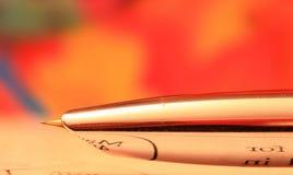 Сияющий nib ручки Стоковое Изображение