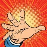 Сила ладони руки иллюстрация вектора