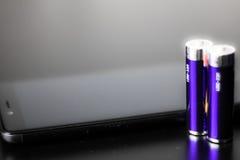 Сила батареи Стоковые Фотографии RF
