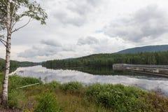 сила гидроэлектрического завода Стоковые Фотографии RF