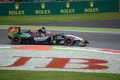 Сила Индия VJM07 2014 F1 Монцы - lkenberg ¼ Nicolas HÃ стоковая фотография