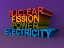Сила и электричество атомного распада иллюстрация штока