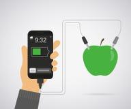 Сила от яблока для smartphone иллюстрация вектора