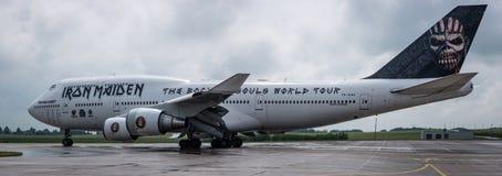 Сила одно Боинга 747 Ed Железная дева Стоковые Изображения