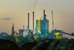 сила промышленного завода Стоковая Фотография