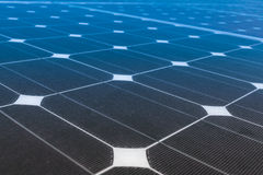 Сила продукции панелей солнечных батарей, зеленая энергия Стоковые Изображения RF
