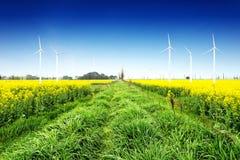 Сила Eco, ветротурбины Стоковое Изображение