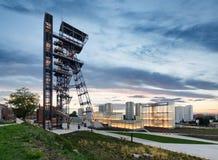 Силезский музей Польша Европа в вечере стоковые фото