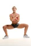 Сидение на корточках фитнеса Стоковые Фотографии RF