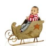Сидеть в моих санях рождества Стоковые Изображения