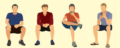 Сидеть людей Стоковое фото RF