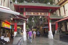 Сидней, Австралия 15-ое марта 2013:: Строб Чайна-тауна (Paifang) дальше Стоковое Изображение