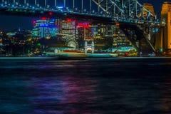 Сидней Luna Park на ноче Стоковые Изображения RF