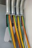 Силовые кабели Colorfull Стоковое фото RF