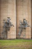 Силосохранилища зерна Grong Grong NSW стоковое изображение