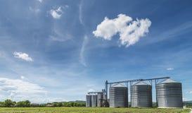 Силосохранилище зерна Стоковые Фотографии RF