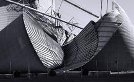 Силосохранилище поврежденное штормом Стоковая Фотография RF