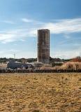 Силосохранилище для того чтобы хранить пшеница Стоковые Изображения