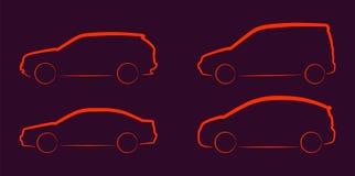 Силуэты автомобиля иллюстрация вектора