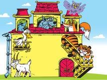 Силуэты диких животных Стоковое Изображение RF