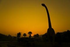 Силуэты динозавров Стоковая Фотография