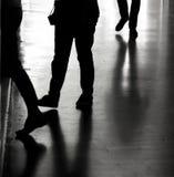 Силуэты и тени в городе Стоковое Изображение RF