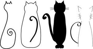 Силуэты кота иллюстрация штока